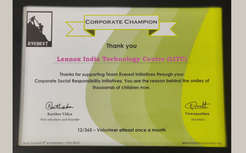 champion for CSR Contributions